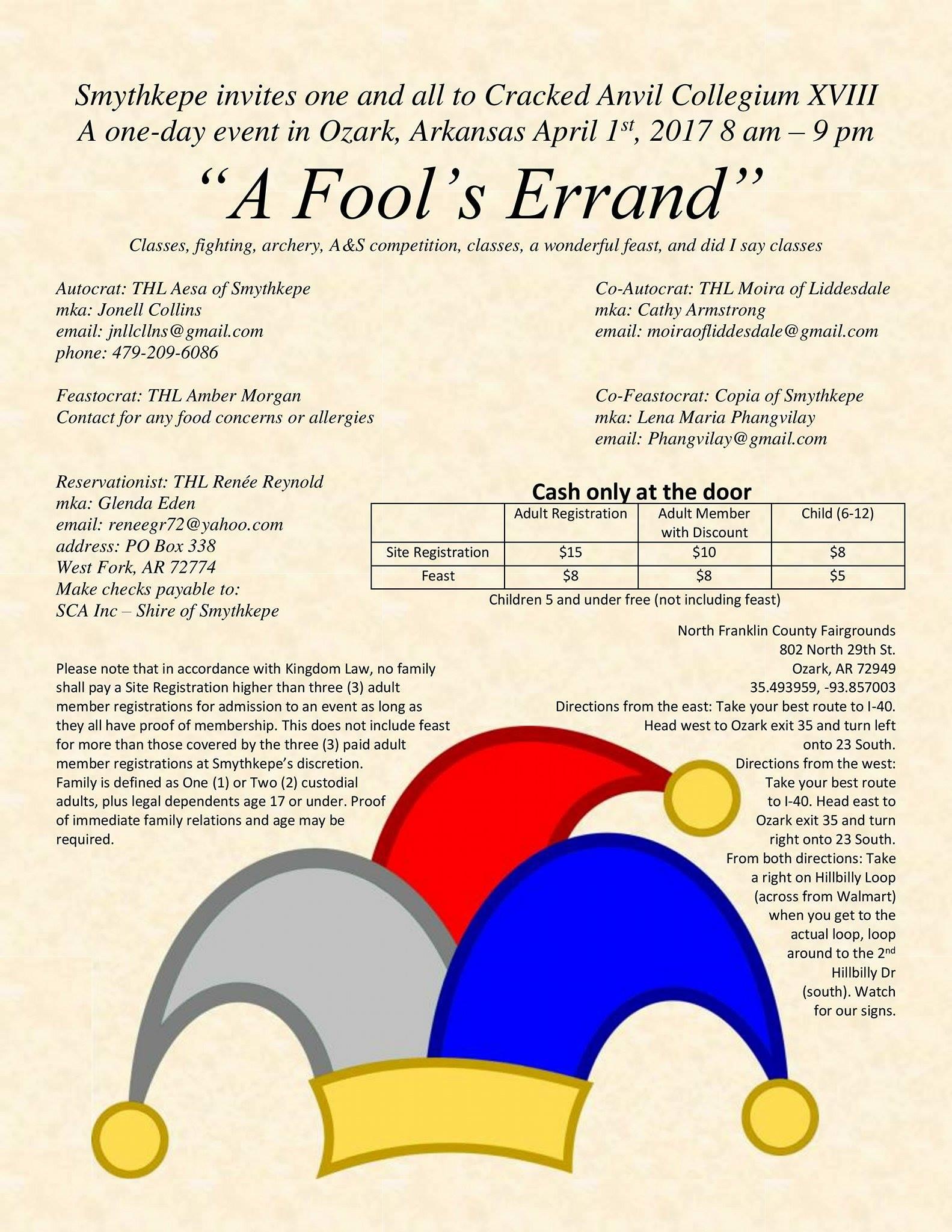 A Fool's Errand @ North Franklin County Fairgrounds