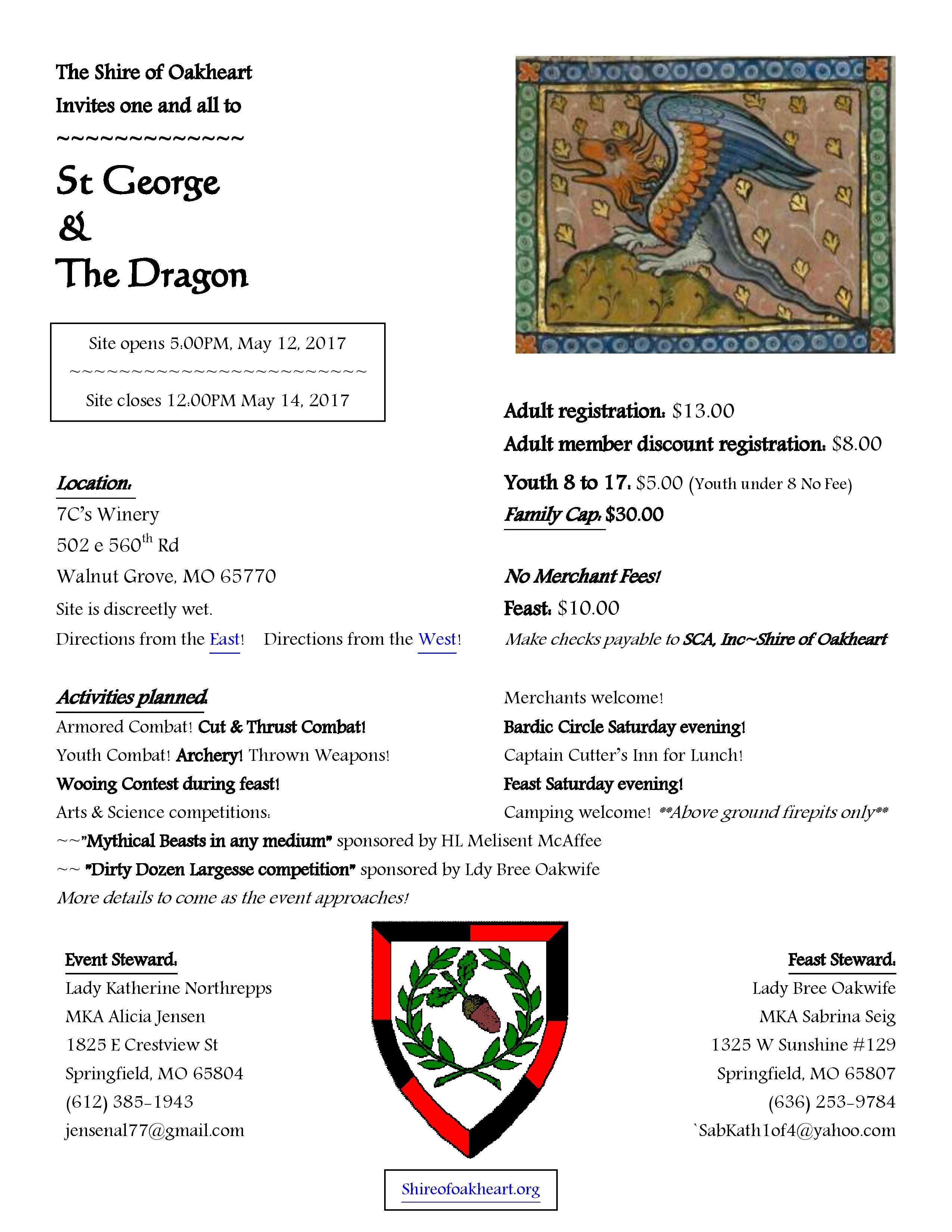 St George & The Dragon 2017 - Shire of Oakheart @ 7C's Winery
